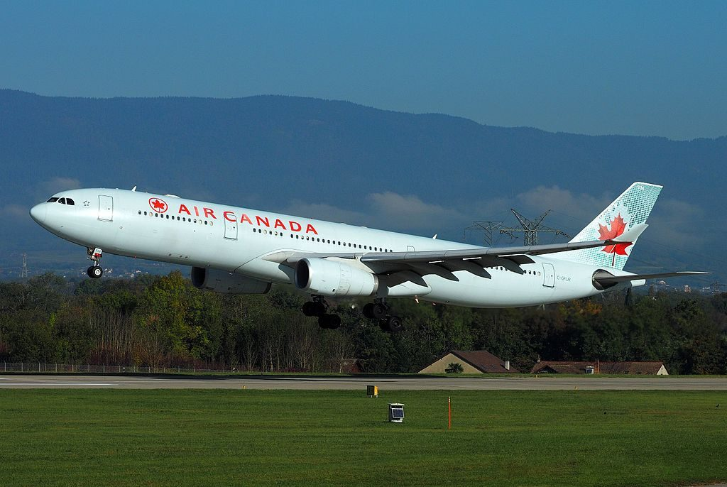Air Canada Airbus A330 343 C GFUR takeoff Geneva International Airport