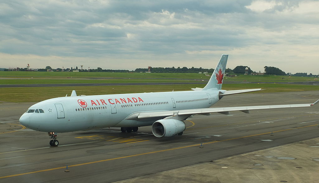 Air Canada Airbus A330 343 C GFUR taxiing at Brussels Airport Belgium