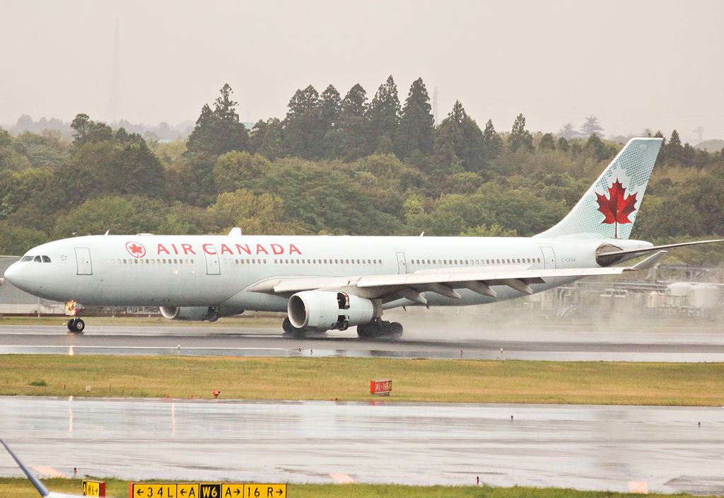 Air Canada Airbus A330 343X C GFAF SN 277 landing at Narita International Airport