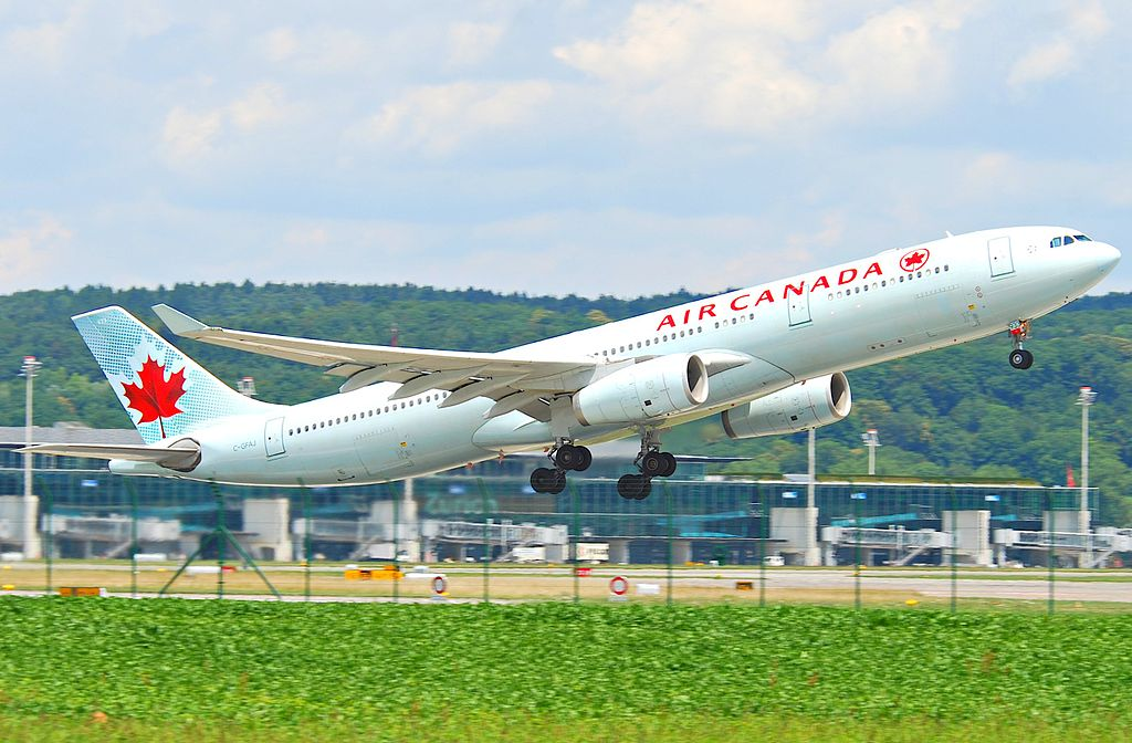 Air Canada Airbus A330 343X C GFAJ departing Zurich International Airport ZRH