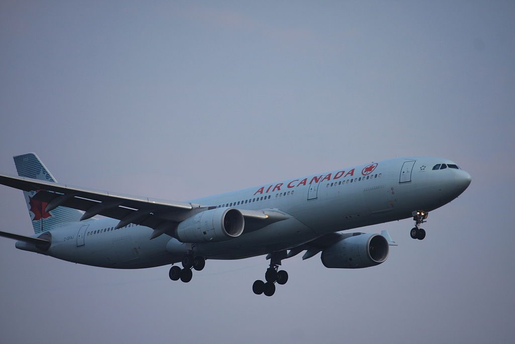Air Canada Airbus A330 343X C GFAJ on final approach at London Heathrow LHR EGLL UK