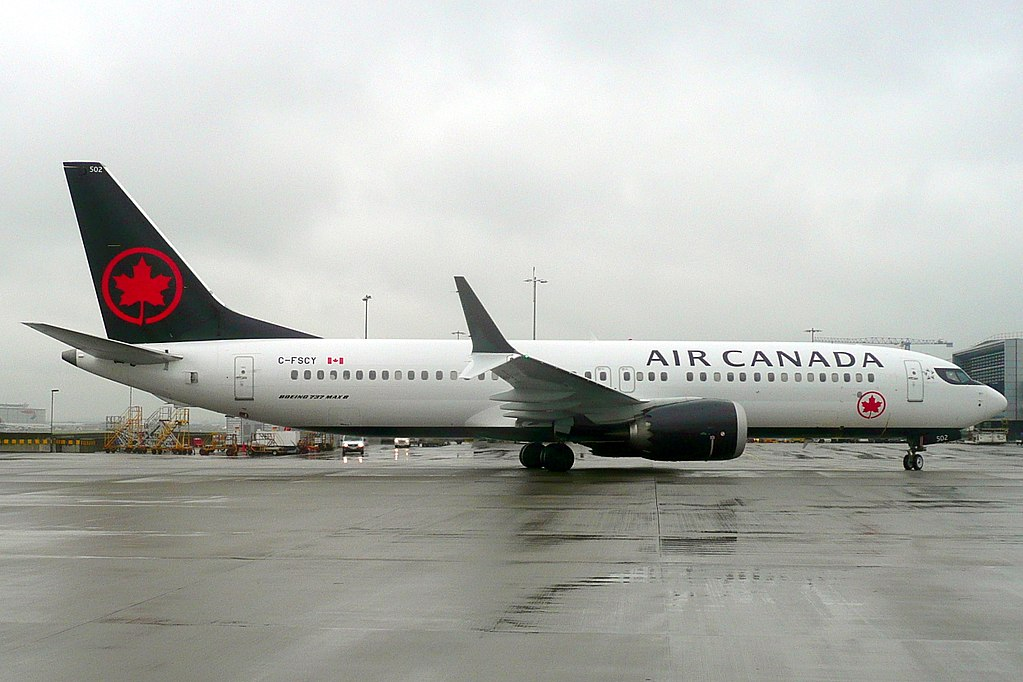 Air Canada Aircraft Boeing 737 MAX 8 C FSCY at London Heathrow Airport