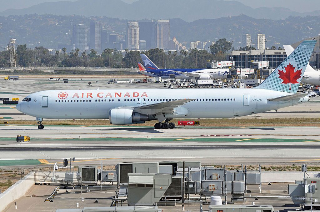Air Canada Aircraft Fleet Boeing 767 375ER C FCAE at Los Angeles International Airport