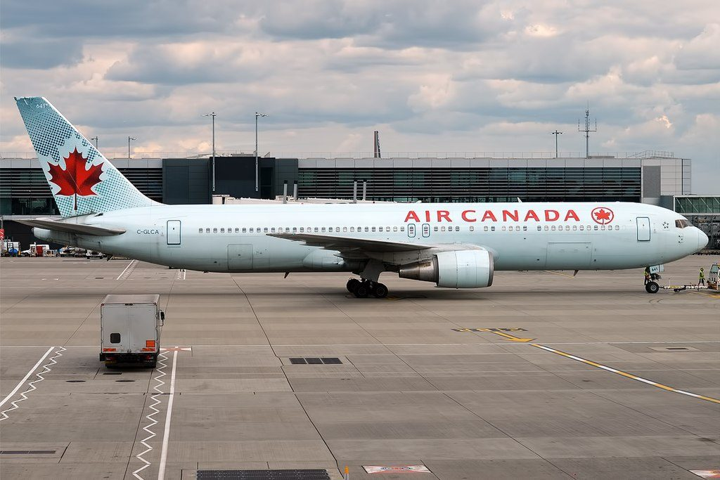 Air Canada Aircraft Fleet Boeing 767 375ER C GLCA at London Heathrow Airport