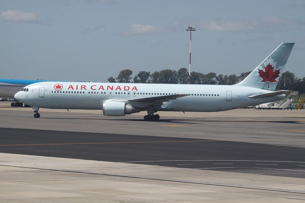 Air Canada Aircraft Fleet Boeing 767 375ER C GLCA at Ministro Pistarini International Airport Buenos Aires Ezeiza