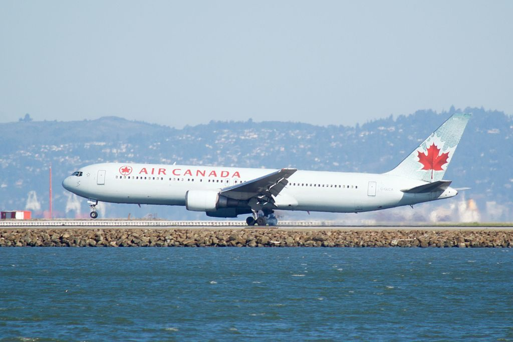Air Canada Aircraft Fleet Boeing 767 375ER C GLCA at San Francisco International Airport