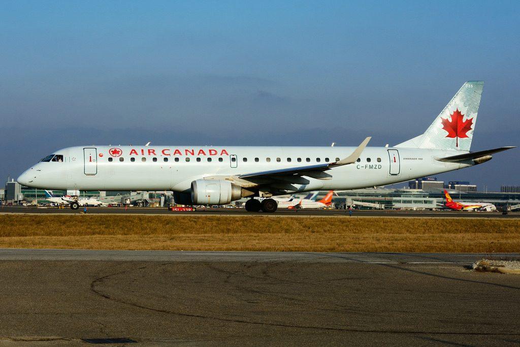 Air Canada Aircraft Fleet C FMZD Embraer E190 at Toronto Lester B. Pearson Airport YYZ