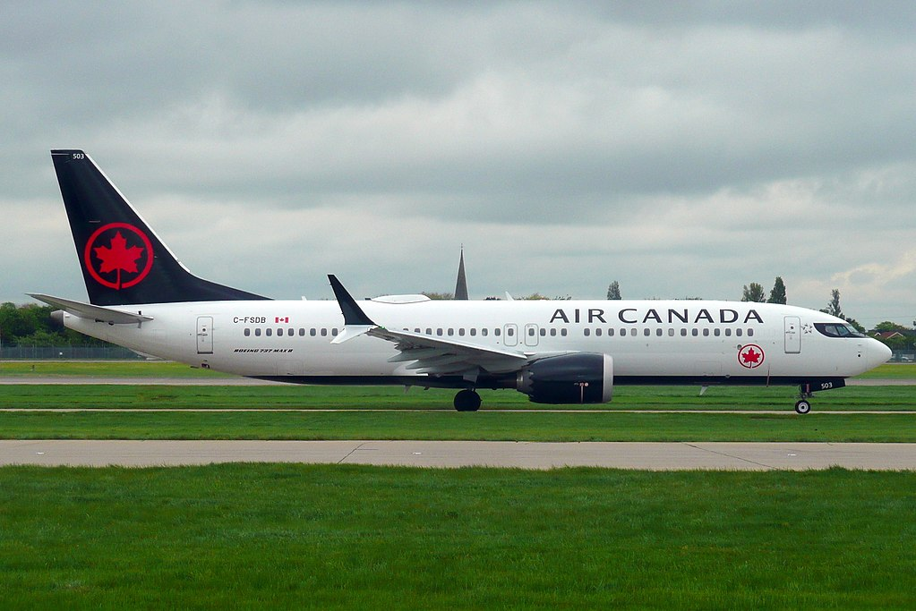 Air Canada Boeing 737 MAX 8 C FSDB at London Heathrow Airport