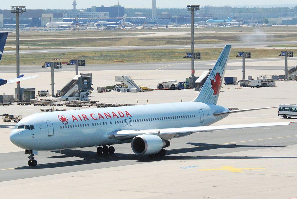 Air Canada Boeing 767 300ER C FPCA taxiing at Frankfurt Airport