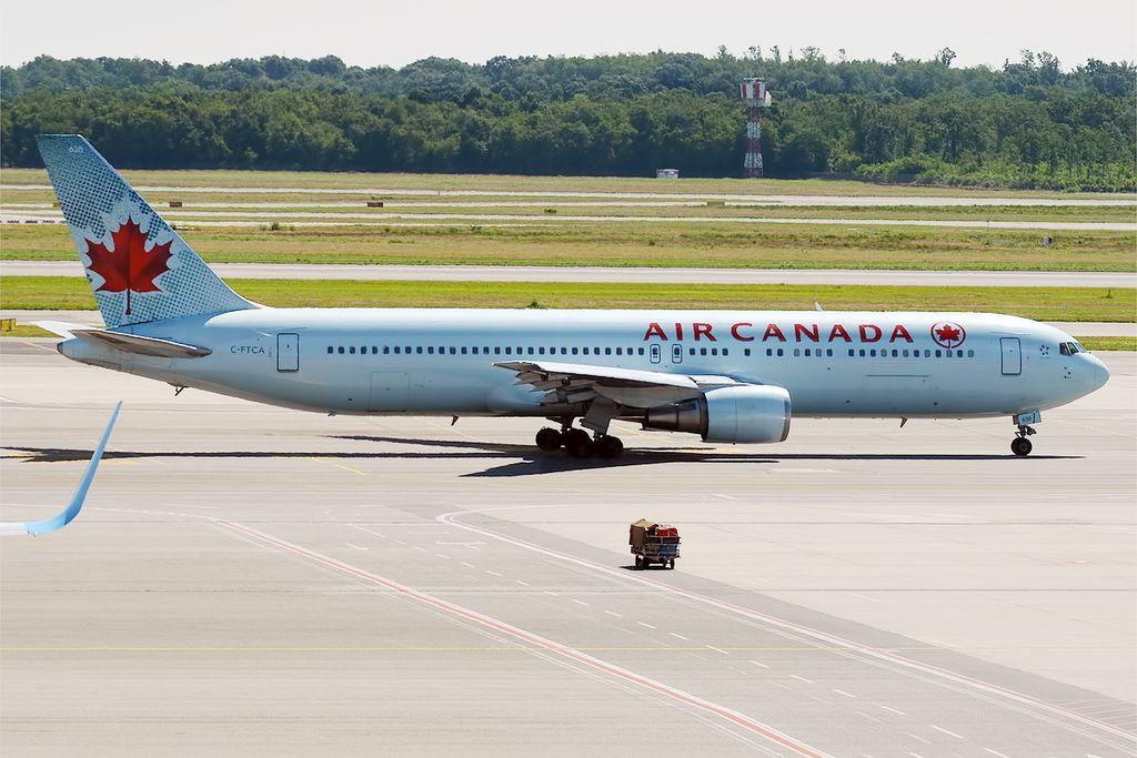 Air Canada Boeing 767 375ER C FTCA at Milan Malpensa Airport