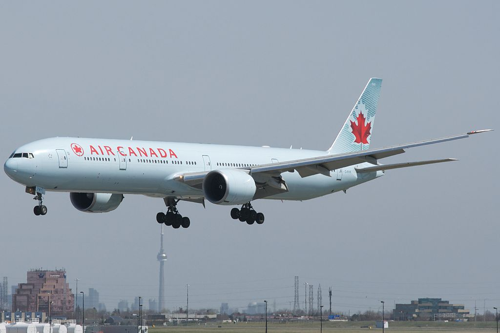 Air Canada Boeing 777 300ER C FIVR short final at Toronto Pearson International Airport