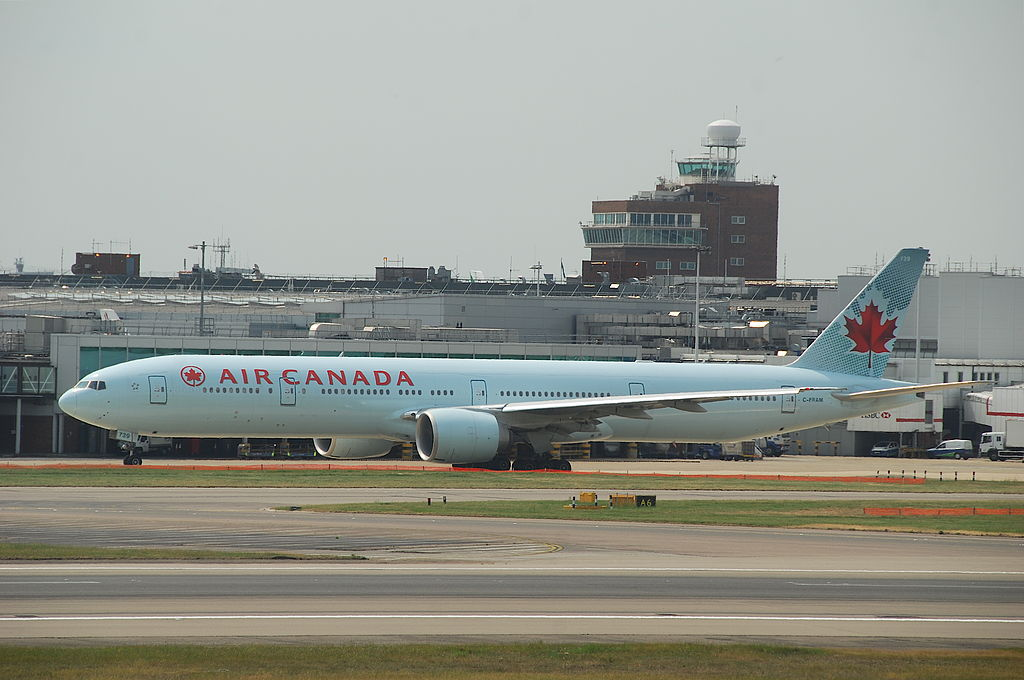 Air Canada Boeing 777 300ER C FRAM at London Heathrow Airport