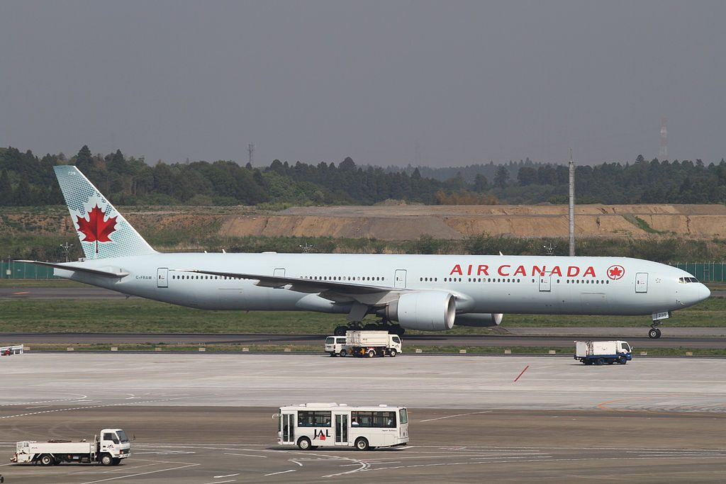 Air Canada Boeing 777 300ER C FRAM at Narita International Airport
