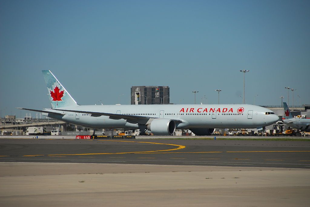 Air Canada Boeing 777 333ER C FIVW arrive at Toronto Pearson International Airport from Munich