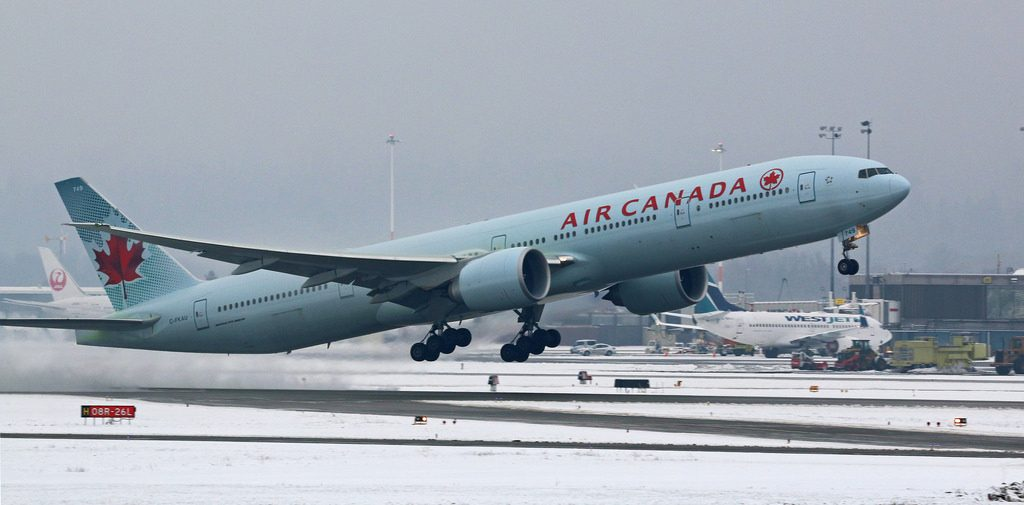 Air Canada Boeing 777 333ER C FKAU at Vancouver International Airport
