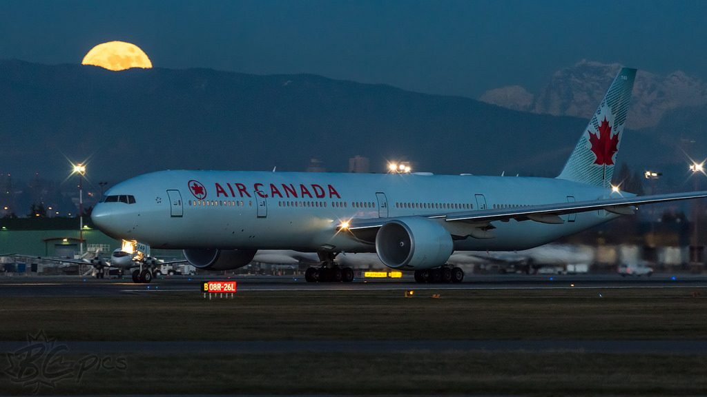Air Canada Boeing 777 333ER C FKAU at Vancouver YVRCYVR