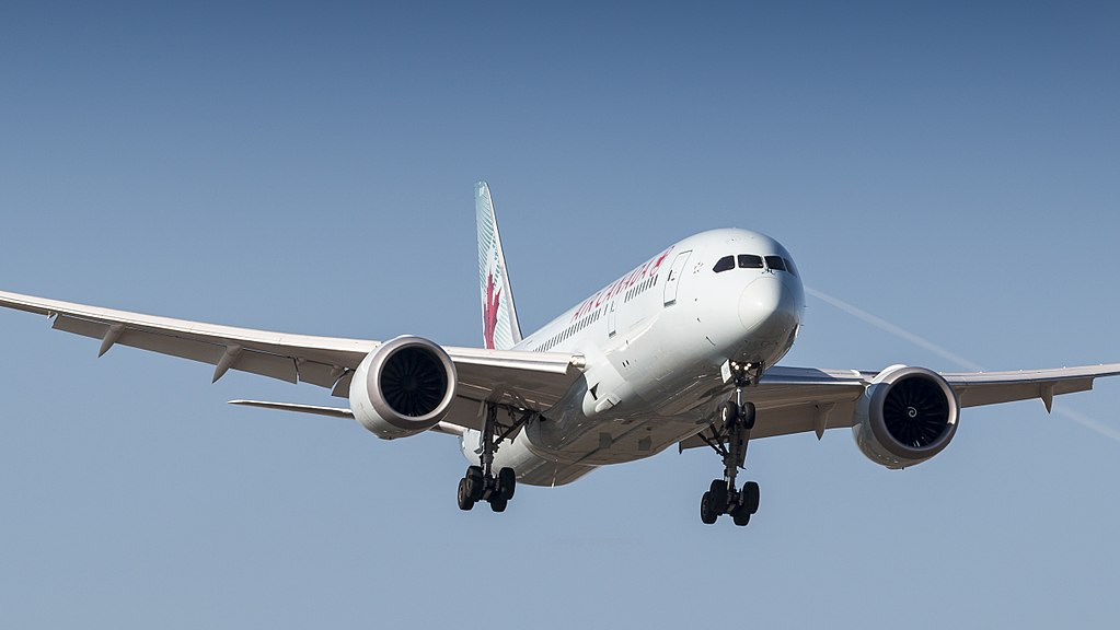 Air Canada Boeing 787 8 Dreamliner C GHQY on final approach at Amsterdam Airport Schiphol