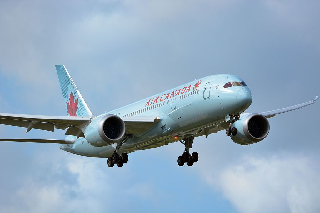 Air Canada Boeing 787 8 Dreamliner C GHQY on final approach at Narita International Airport NRT