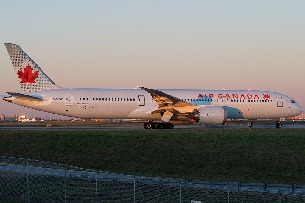 Air Canada Boeing 787 9 Dreamliner C FGDZ at Toronto Pearson International Airport
