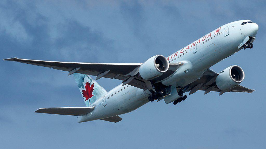 Air Canada C FIUJ Boeing 777 200LR at Frankfurt Airport