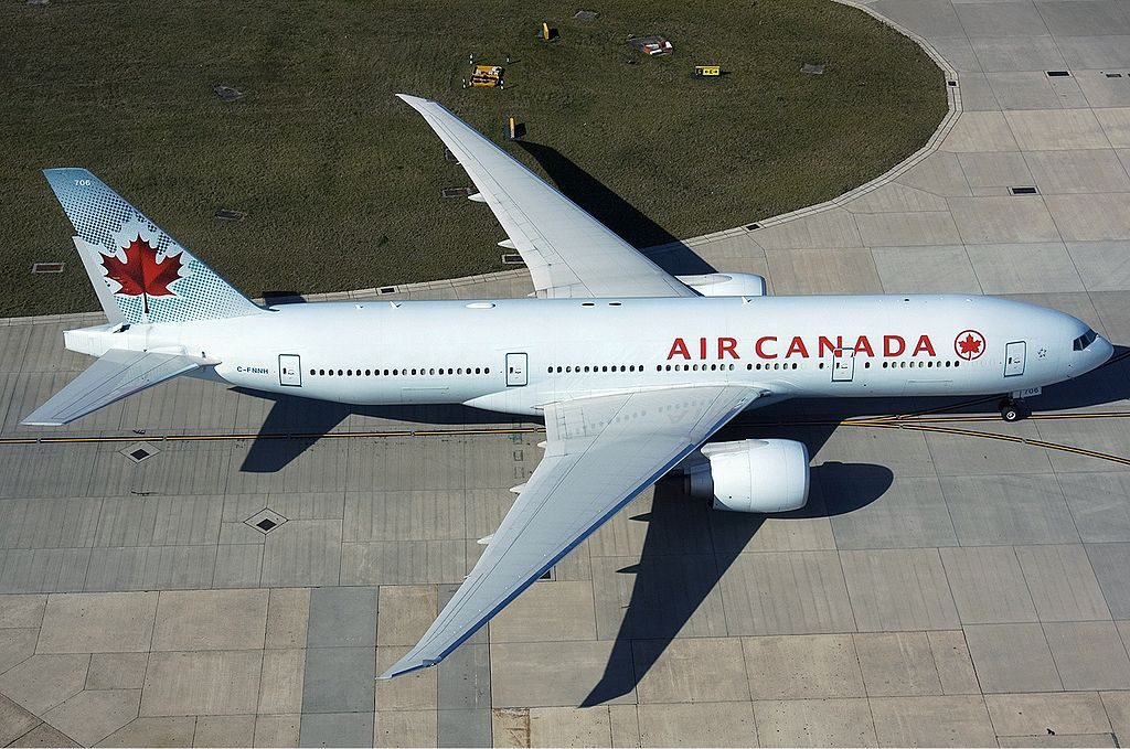Air Canada C FNNH Boeing 777 200LR at London Heathrow Airport