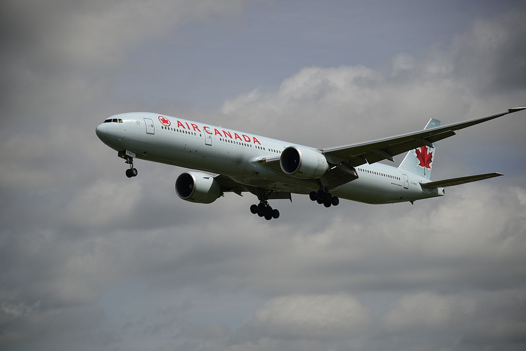 Air Canada C FNNQ Boeing 777 300ER at London Heathrow Airport