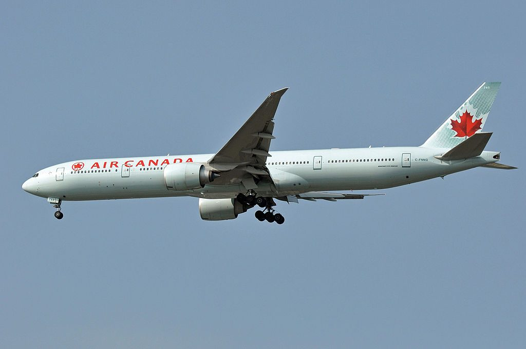 Air Canada C FNNQ Boeing 777 300ER at Vancouver International Airport