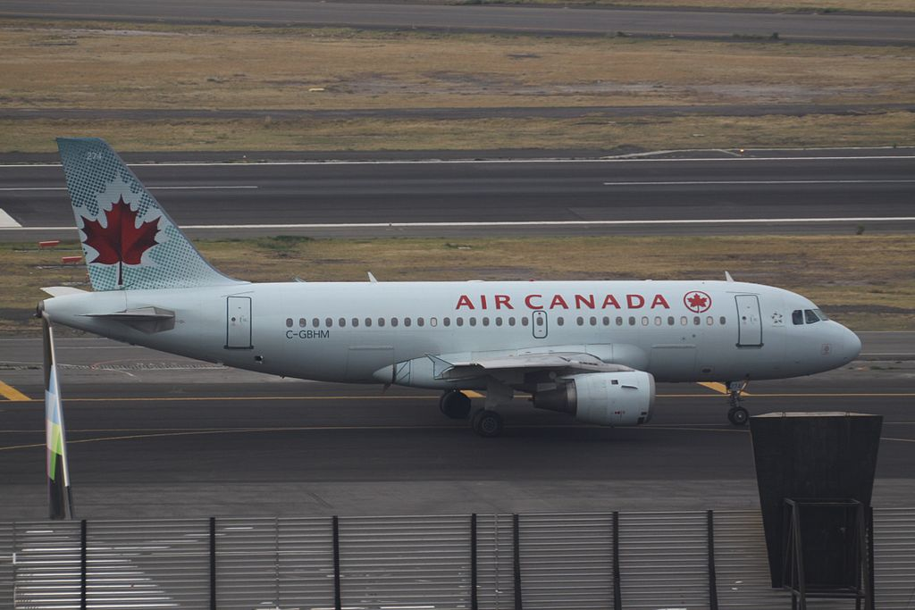 Air Canada C GBHM Airbus A319 114 cnserial number 769 at Mexico City International Airport