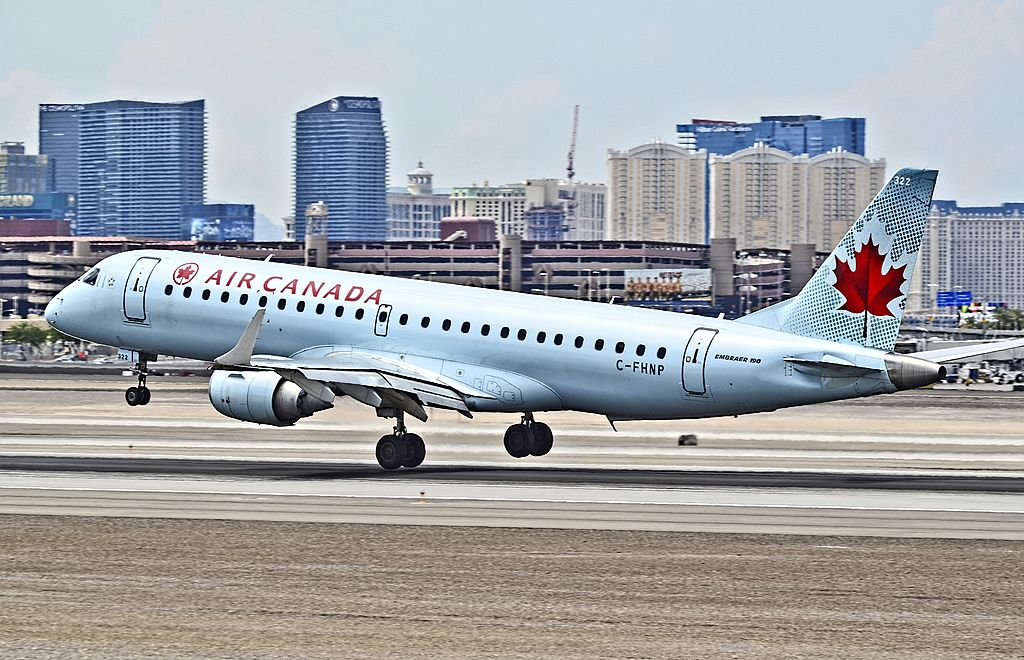 Air Canada Embraer E190 C FHNP at McCarran International Airport KLAS Las Vegas