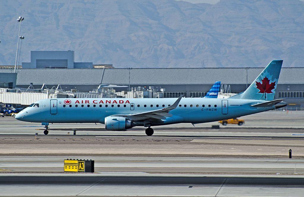 Air Canada Embraer ERJ 190 100 IGW C FMZW at Las Vegas McCarran International LAS KLAS USA