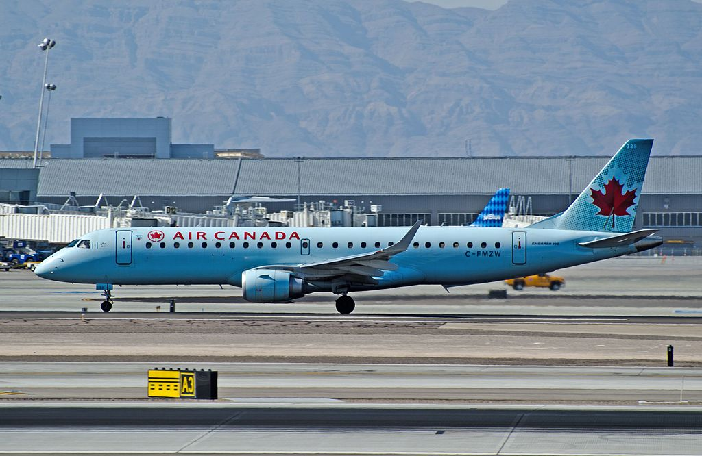 Air Canada Embraer ERJ 190 100 IGW C FMZW at Las Vegas McCarran International LAS KLAS USA