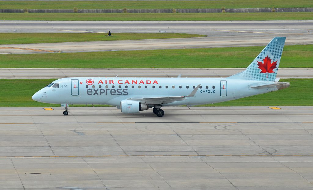 Air Canada Express C FXJC Sky Regional Airlines Embraer E175 at Houstons George Bush Intercontinental