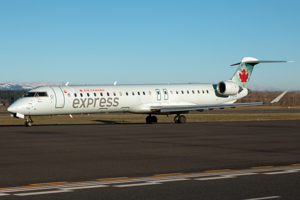 Air Canada Express Jazz Air Bombardier CRJ900 C GPJZ at Portland International Airport KPDX