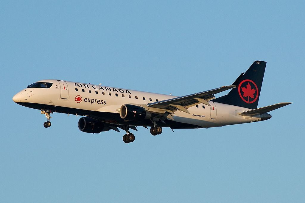 Air Canada Express Sky Regional Airlines Embraer E175 C FRQN on final approach at YYZ