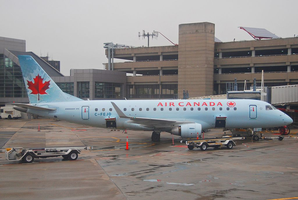 Air Canada Express Sky Regional Embraer E175 C FEJD at Logan International Airport