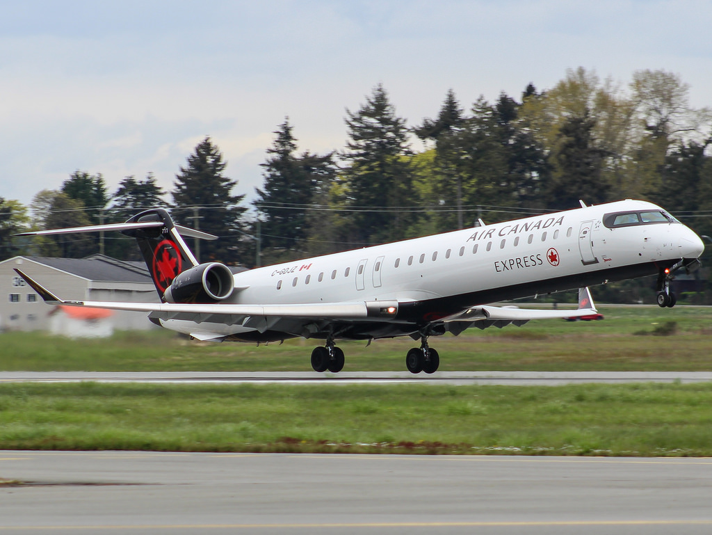 Air Canada Express operated by Jazz Bombardier CRJ900 C GDJZ at Victoria International Airport