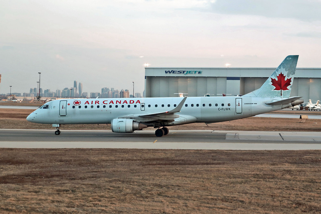 Air Canada Fleet C FLWK Embraer E190 taxiing at YYZ