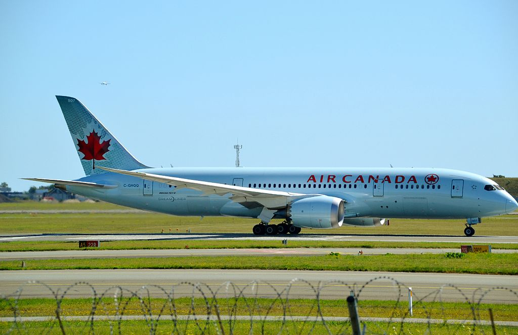 Air Canada Fleet C GHQQ Boeing 787 8 Dreamliner at Copenhagen Airport Denmark