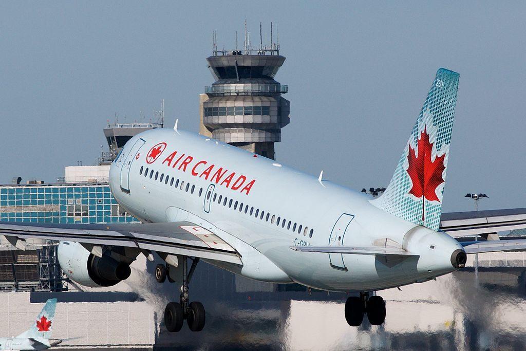 Air Canada Jetz C GBIA Airbus A319 114 cnserial number 817 departing Montréal–Pierre Elliott Trudeau International Airport