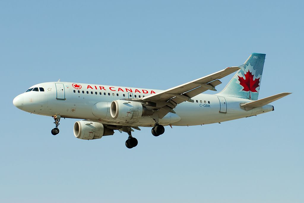 Air Canada Jetz C GBIK Airbus A319 114 cnserial number 831 on final approach at YVR