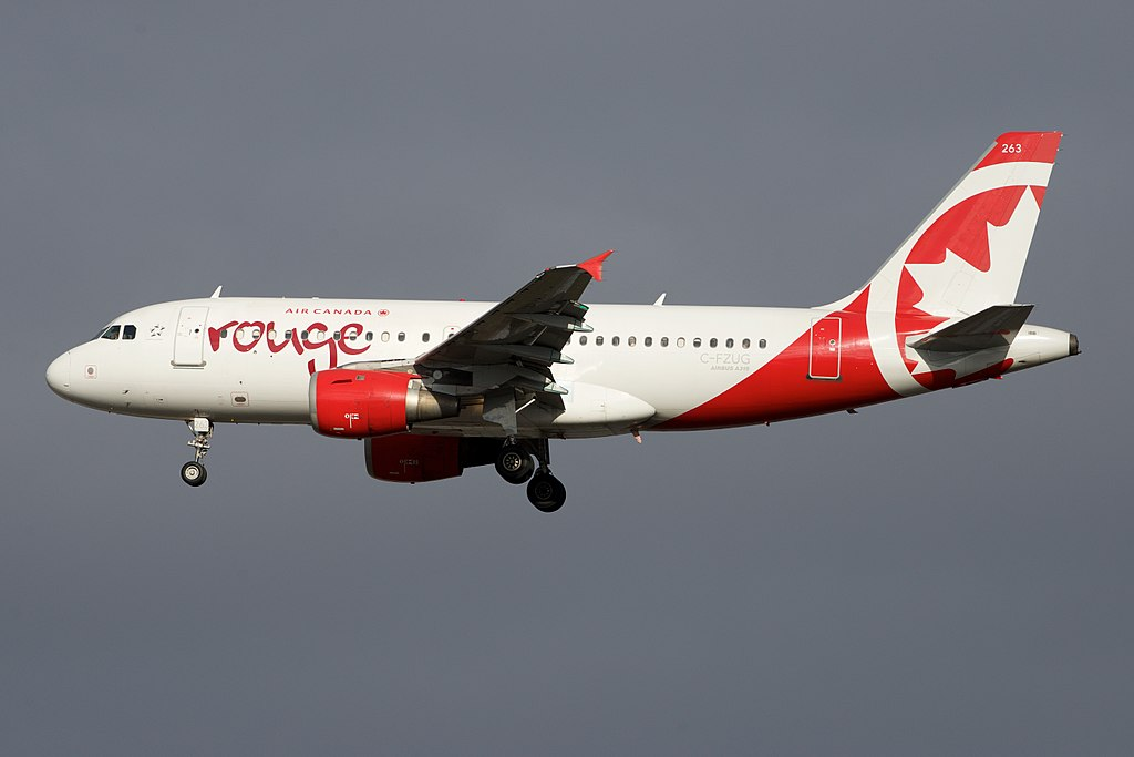 Air Canada Rouge Airbus A319 100 C FZUG Approaching 33L YYZ Toronto Pearson International Airport