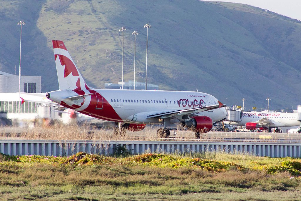 Air Canada Rouge Airbus A319 114 C GBHY at San Francisco International Airport
