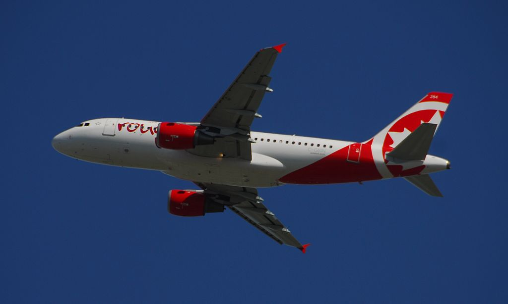 Air Canada Rouge Airbus A319 114 C GBIN FIN 284 Flight ROU1866 from YYZ to MCO