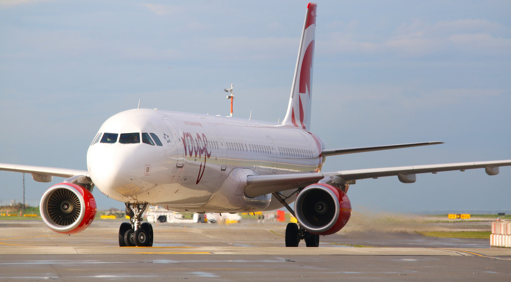 Air Canada Rouge Airbus A321 211 C FJOU at CYVR airport
