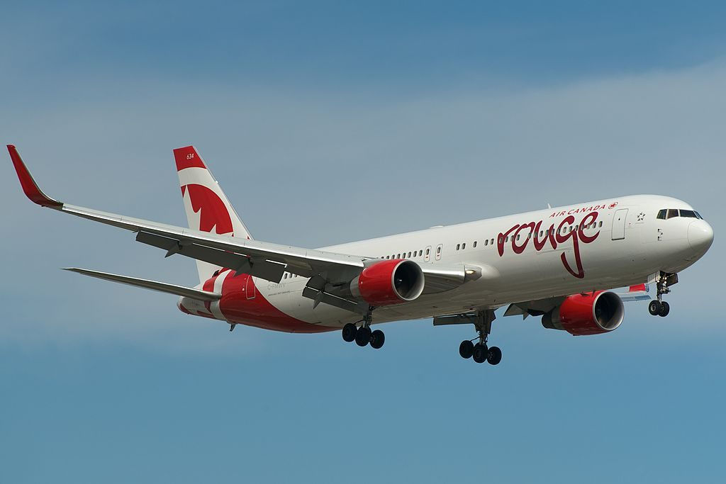 Air Canada Rouge Boeing 767 300ER C FMWV Short final into Toronto Pearson YYZ