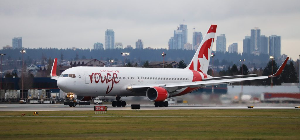 Air Canada Rouge Boeing 767 333ER C FMWQ at Vancouver International Airport