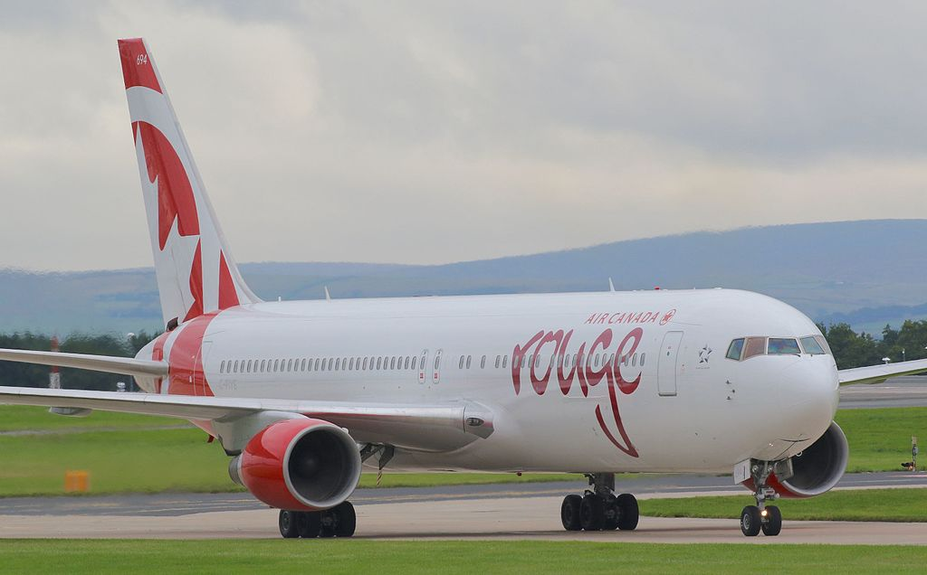 Air Canada Rouge Boeing 767 33AER C FIYE at Manchester Airport
