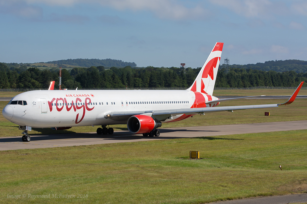Air Canada Rouge C FMLZ Boeing 767 316ER Edinburgh Airport Scotland @RaymondMcFadyen