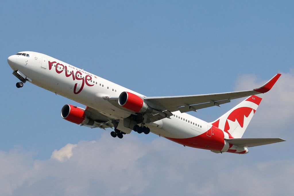 Air Canada Rouge C FMWP Boeing B767 333ER departing London Gatwick IATA LGW ICAO EGKK