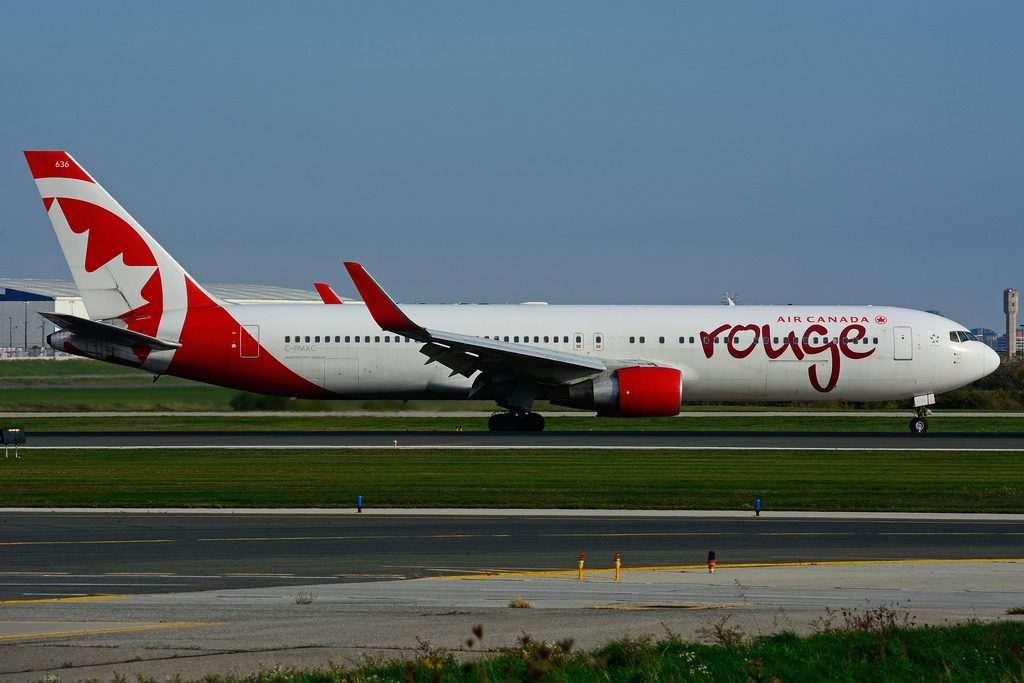 Air Canada Rouge C FMXC Boeing B767 333ERW at Toronto Lester B. Pearson Airport YYZ
